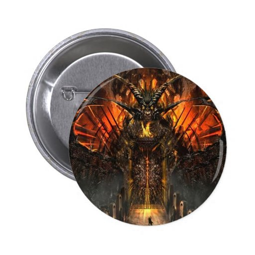 Abstract Horror Approach The Gates Of Hell Buttons