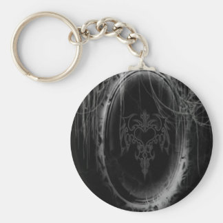 Abstract Horror Black Mirror Key Chains