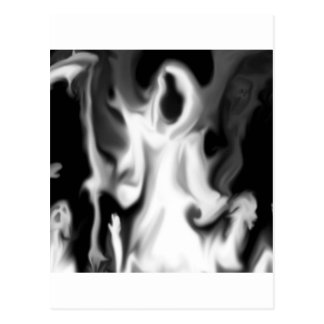 Abstract Horror Blurred Ghost Vision Postcard