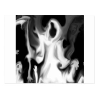 Abstract Horror Blurred Ghost Vision Postcards
