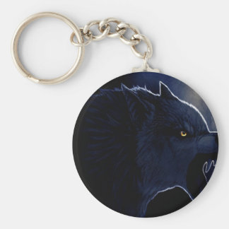 Abstract Horror Dark Wolf Silhouette Key Chains