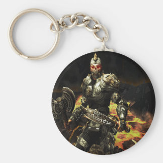 Abstract Horror Death Comes Armour Key Chains