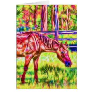 Abstract Horse in a paddock card