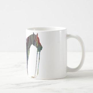 Abstract horse silhouette coffee mug