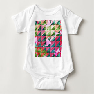 Abstract Hot Pink Banana Leaves Design Baby Bodysuit