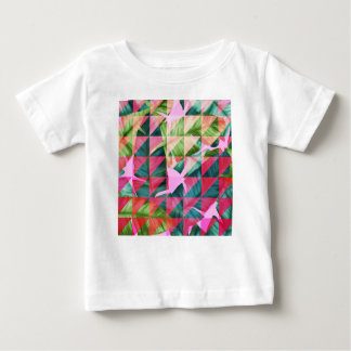 Abstract Hot Pink Banana Leaves Design Baby T-Shirt