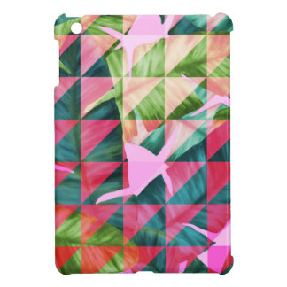Abstract Hot Pink Banana Leaves Design iPad Mini Cases