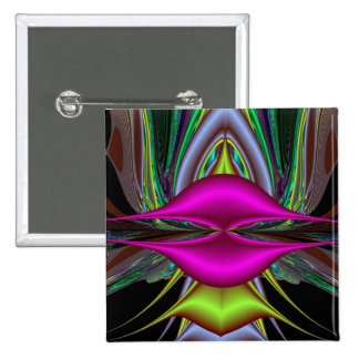 Abstract Hot Pink Lips Fractal Art Design Gifts Button