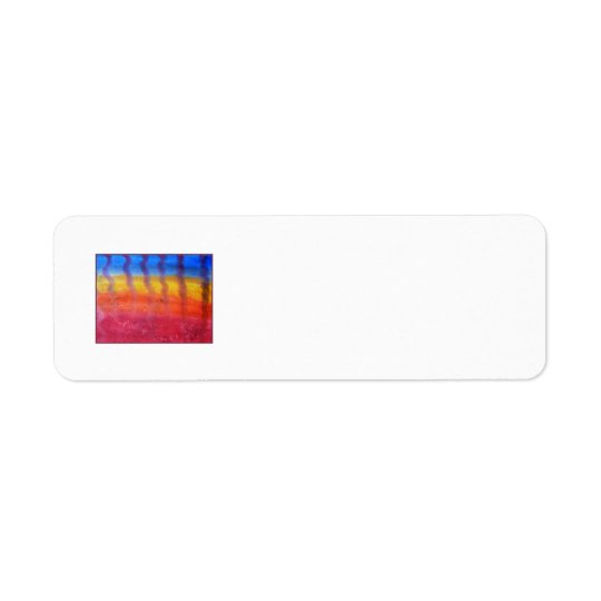 Abstract. Hot Sand in Summer. Return Address Label