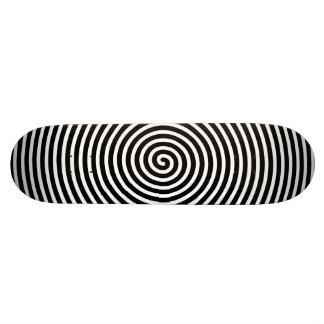 Abstract Hypnotized Black White Skate Board Decks