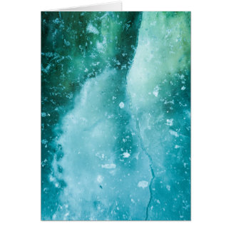 Abstract Ice Art Greeting Card