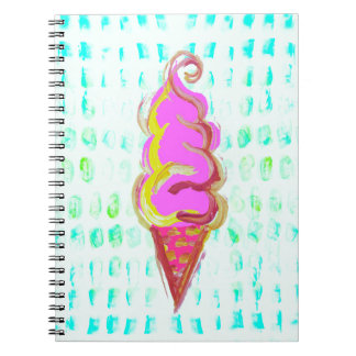 Abstract Ice Cream Notebook