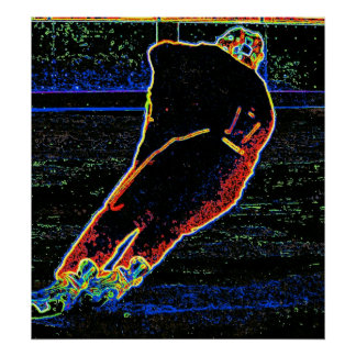 Abstract Ice Hockey Player Poster