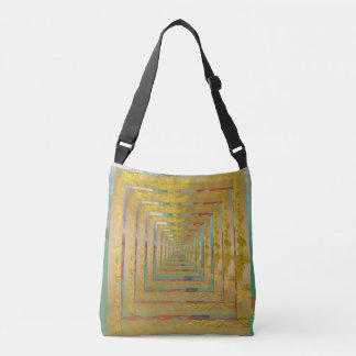 Abstract Ideas Down the Gold Road Tote Bag