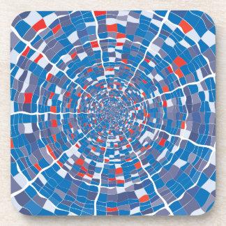 Abstract illustration beverage coaster
