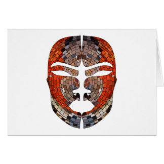 Abstract imitation of African mask Card