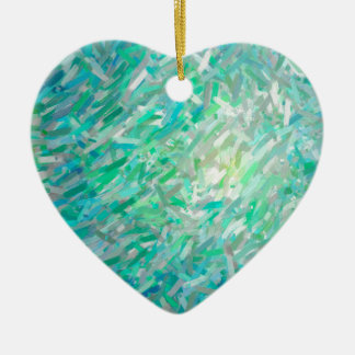 Abstract Imposto Color Composition 2 Ceramic Heart Decoration