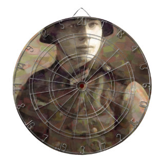 Abstract impressionist painting of A Young Soldier Dartboard