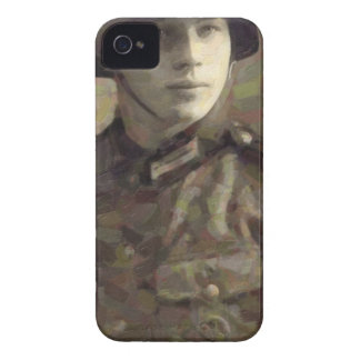 Abstract impressionist painting of A Young Soldier iPhone 4 Case