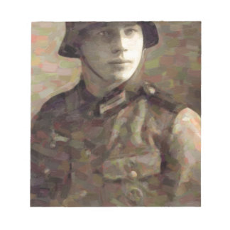 Abstract impressionist painting of A Young Soldier Notepad