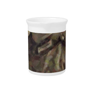 Abstract impressionist painting of A Young Soldier Pitcher