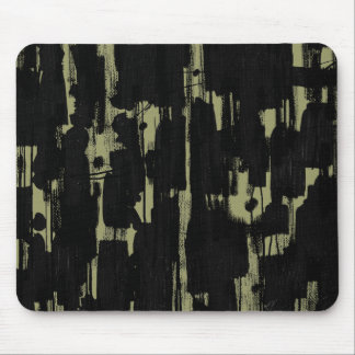 Abstract in Black - Khaki Mouse Pad