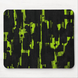 Abstract in Black - Martian Green Mouse Pad