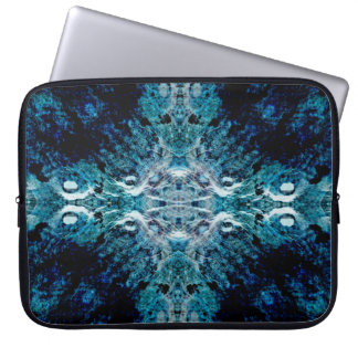 Abstract in Blue and Teal. Some soft edges. Laptop Sleeve