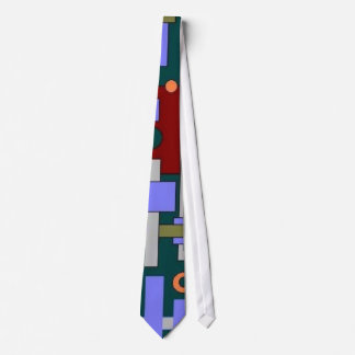 abstract in blue tie