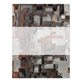 Abstract in Brown and Gray Custom Announcements