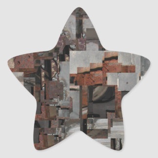 Abstract in Brown and Gray. Star Sticker