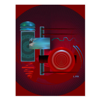 Abstract In Motion Postcard