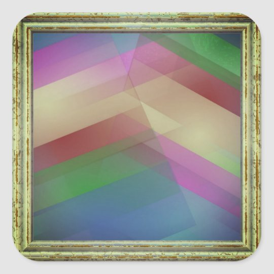 Abstract In Multicolors Square Sticker