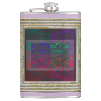 Abstract In Purple Hip Flask