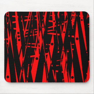 Abstract in Red and Black Mouse Pad