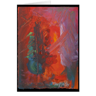 Abstract in Red Note Card