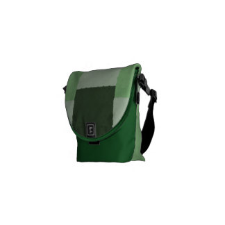 Abstract in Shades of Green Messenger Bag