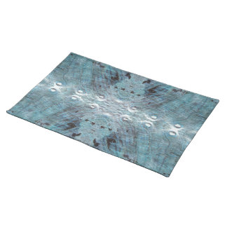 Abstract in Teal, with some soft edges. Place Mats
