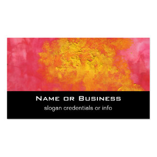 Abstract in Yellow and Red Surreal Splash of Sun Pack Of Standard Business Cards