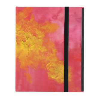 Abstract in Yellow and Red Surreal Splash of Sun iPad Case