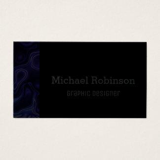 Abstract Indigo Blue & Black Business Card