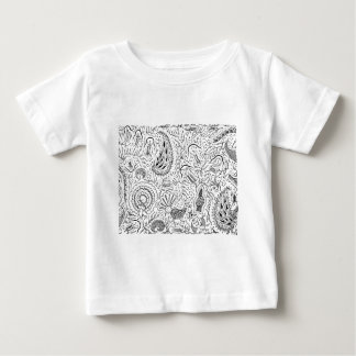 Abstract Indonesian Textile with Birds Baby T-Shirt