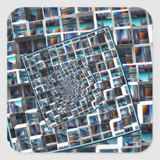 Abstract Infinity Square Sticker