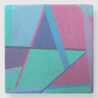 Abstract Initial A 12117 - Marble Stone Coaster