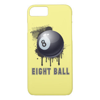 Abstract Ink Splotch with BILLIARD ball and TEXT iPhone 7 Case