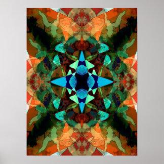 Abstract Inkblot Pattern Poster