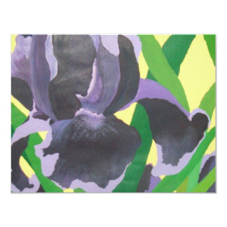 abstract irises personalized invitations