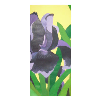 abstract irises rack card template
