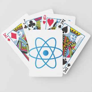 Abstract Isolated Atom Bicycle Playing Cards