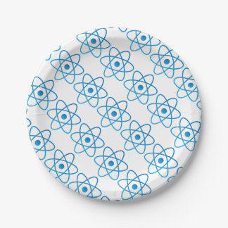 Abstract Isolated Atom Paper Plate